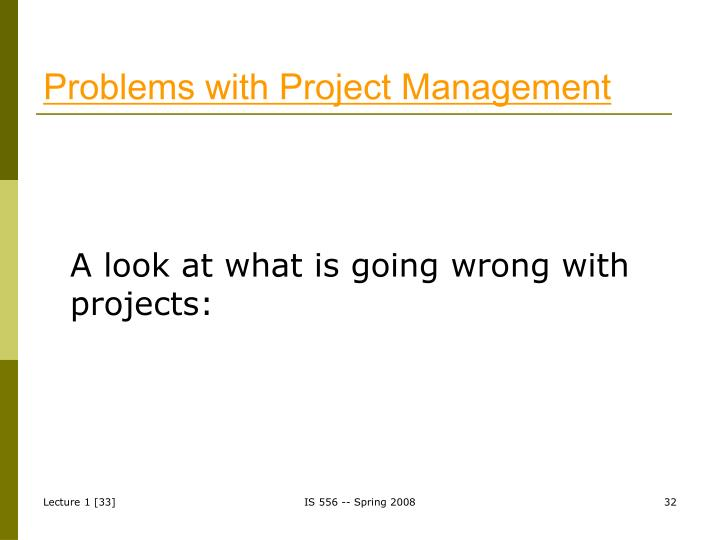 Problems with Project Management