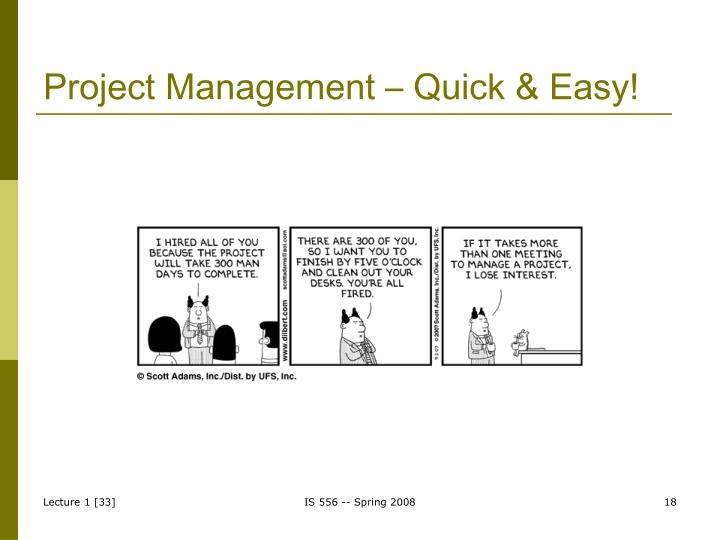 Project Management – Quick & Easy!
