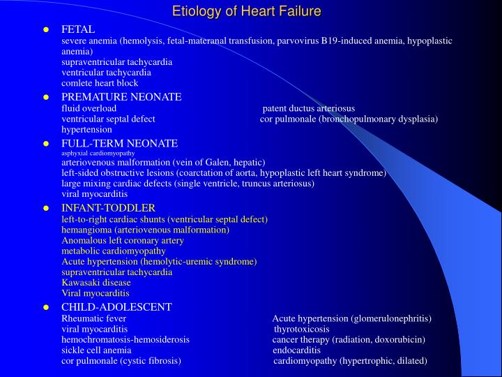 Etiology of Heart Failure