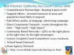 best practices california you count census 2000