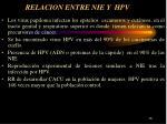 relacion entre nie y hpv
