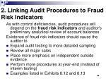 2 linking audit procedures to fraud risk indicators