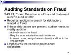 auditing standards on fraud