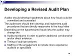 developing a revised audit plan