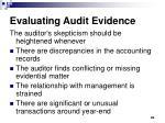 evaluating audit evidence