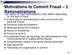 motivations to commit fraud 3 rationalizations