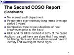 the second coso report continued
