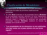 clasificaci n de mendeleiev
