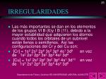 irregularidades