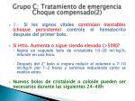 grupo c tratamiento de emergencia choque compensado 2