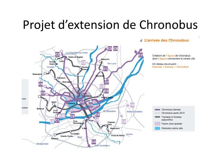 Projet d'extension de Chronobus