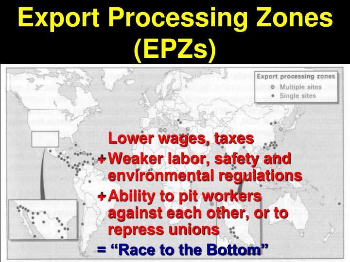 Export Processing Zones (EPZs)