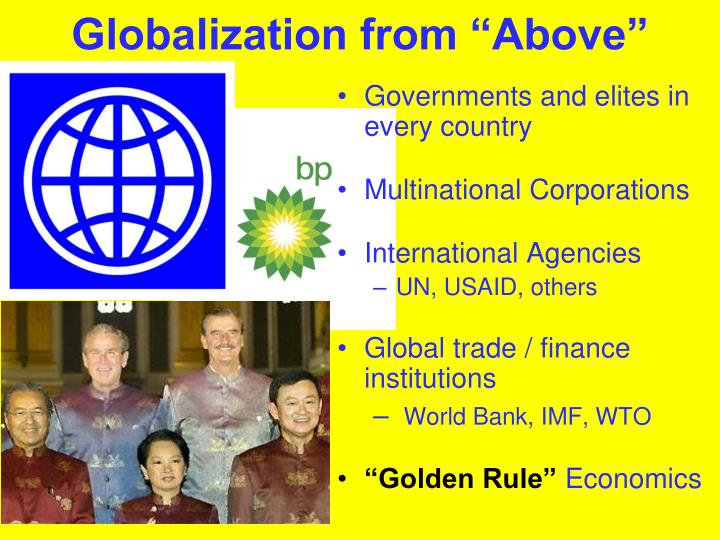"""Globalization from """"Above"""""""