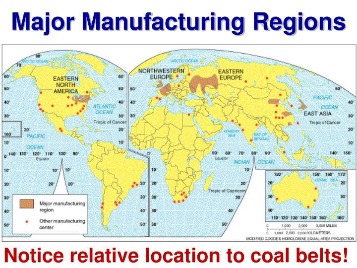 Major Manufacturing Regions