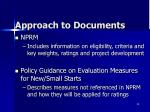approach to documents