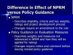 difference in effect of nprm versus policy guidance