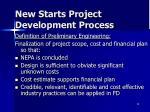new starts project development process1