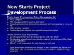 new starts project development process2