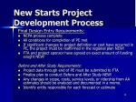 new starts project development process4