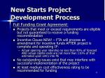 new starts project development process5