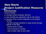 new starts project justification measures2