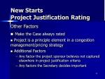 new starts project justification rating4