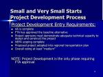 small and very small starts project development process1