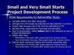 small and very small starts project development process6