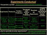 experimento conductual