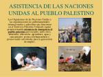 asistencia de las naciones unidas al pueblo palestino