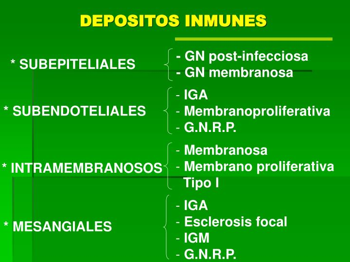 DEPOSITOS INMUNES