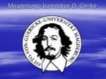 magdeburgo burmistras o g rik