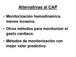 alternativas al cap