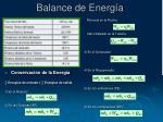 balance de energ a
