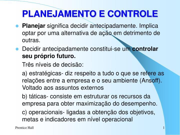 planejamento e controle n.