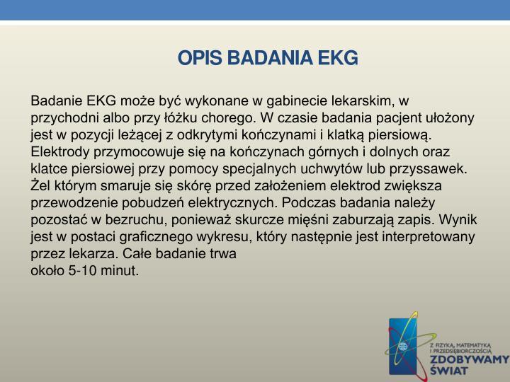OPIS BADANIA EKG