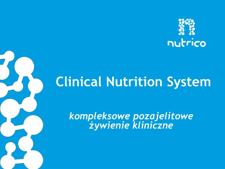 clinical nutrition system n.
