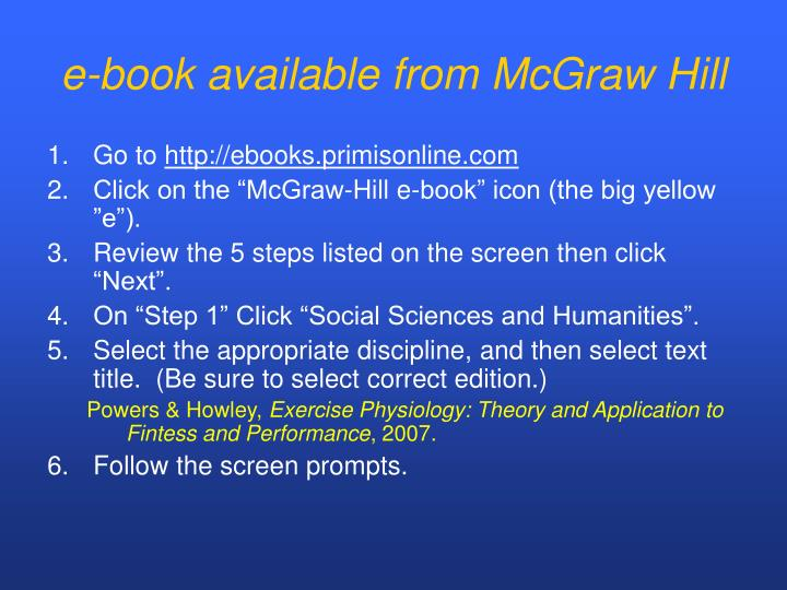 e-book available from McGraw Hill