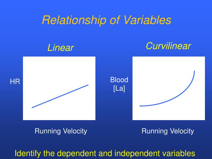 Relationship of Variables