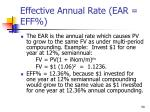 effective annual rate ear eff