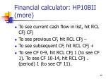 financial calculator hp10bii more