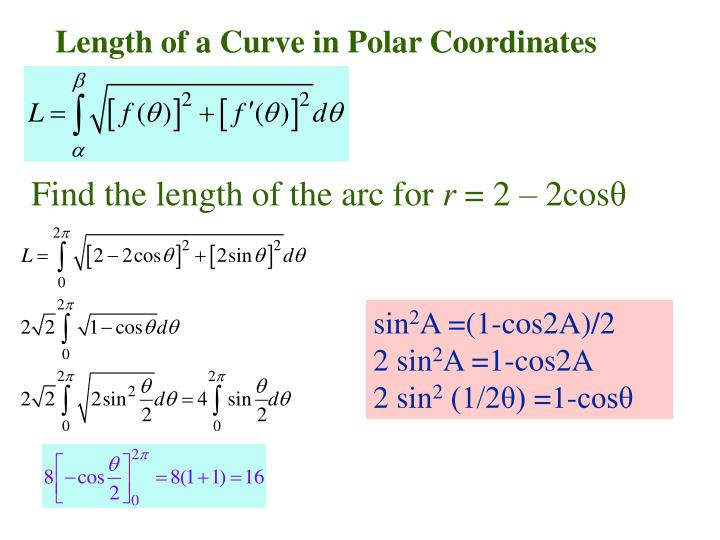 Length of a Curve in Polar Coordinates