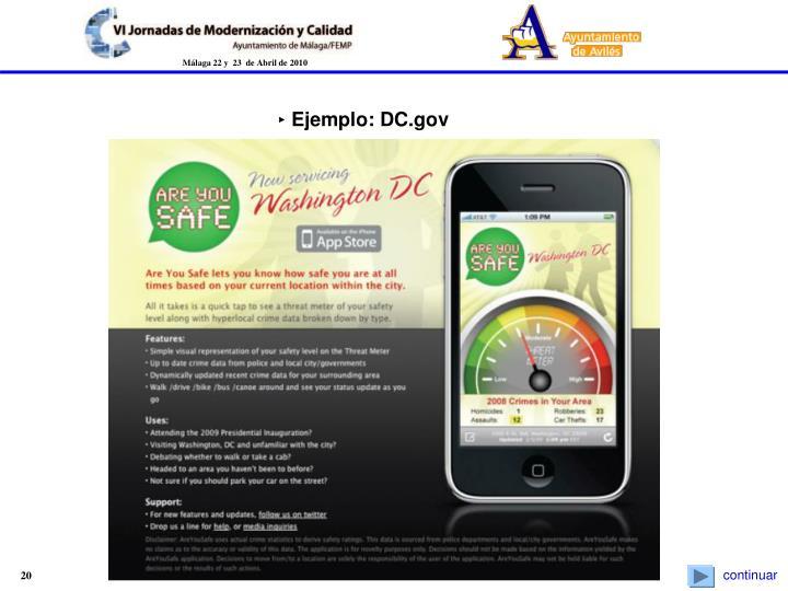‣ Ejemplo: DC.gov