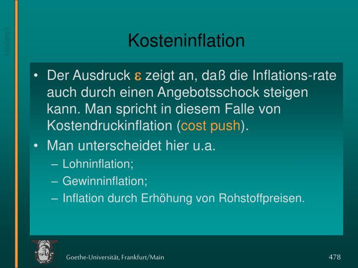 Kosteninflation