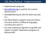 cgl map reduce implementation