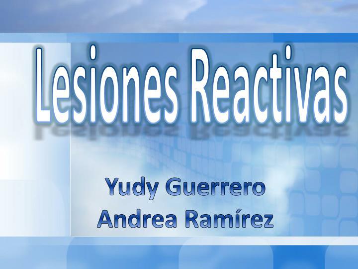 Lesiones Reactivas