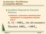 an overview the efficiency of competitive markets6
