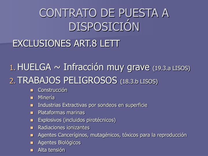 CONTRATO DE PUESTA A DISPOSICIÓN