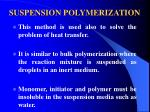 suspension polymerization