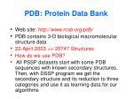 pdb protein data bank